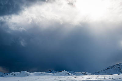 Horizontal Photograph - Breakthrough - Iceland Snow Photograph by Duane Miller