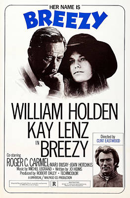 1970s Movies Photograph - Breezy, Us Poster, Top From Left by Everett