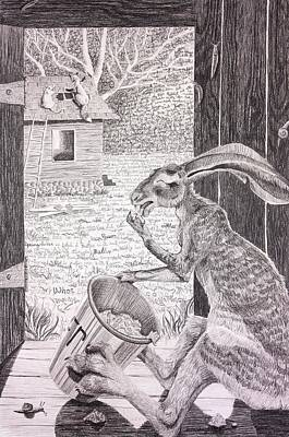 Brer Rabbit Nibbles Up All The Butter Print by Lena Quagliato