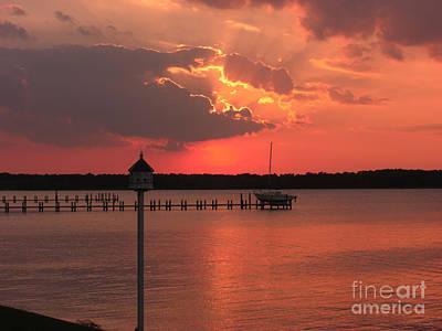 Clouds Photograph - Breton Bay Sunset by Deborah Smolinske