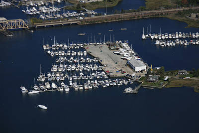 Brewer Yacht Yard, Mystic Print by Dave Cleaveland