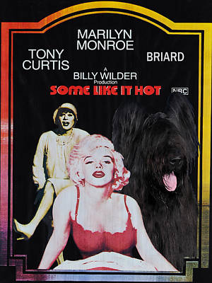 Briard Art Canvas Print - Some Like It Hot Movie Poster Print by Sandra Sij