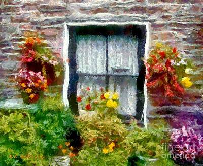 Brick And Blooms Print by RC DeWinter