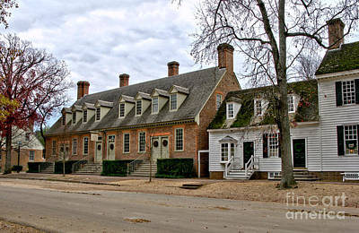 Colonial Photograph - Brick House Tavern In Williamsburg by Olivier Le Queinec