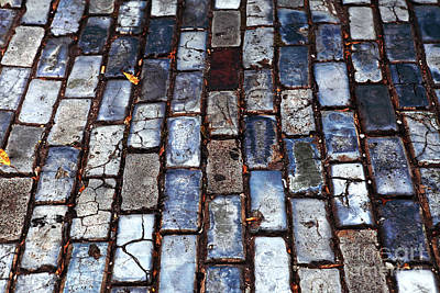 Brick Street Print by John Rizzuto