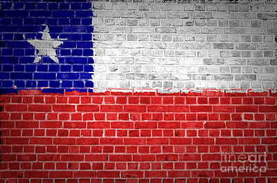 Backdrop Digital Art - Brick Wall Chile by Antony McAulay