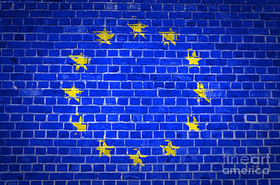Brick Wall European Union Print by Antony McAulay