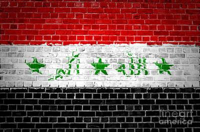 Brick Wall Iraq Print by Antony McAulay