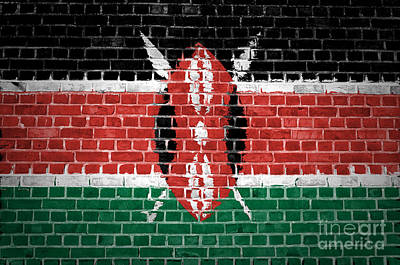 Backdrop Digital Art - Brick Wall Kenya by Antony McAulay