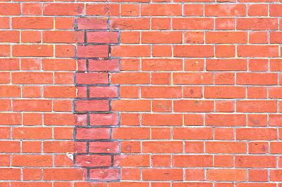 Brick Wall Repair Print by Tom Gowanlock