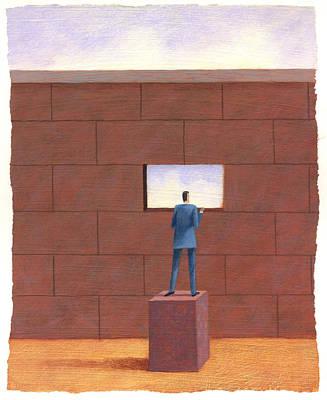 Brick Wall Print by Steve Dininno