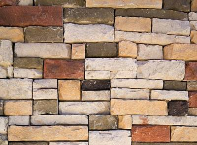 Background And Textures Photograph - Brick Wall by Steven Raniszewski