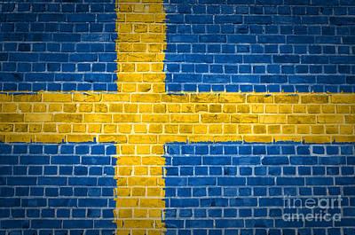 Sweden Digital Art - Brick Wall Sweden by Antony McAulay