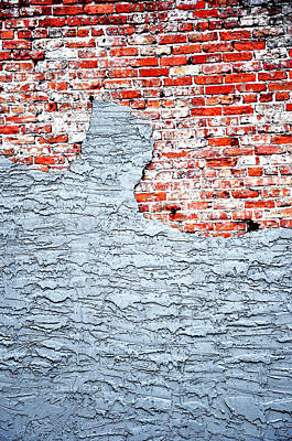 Spackle Photograph - Bricks by Jamie Klock