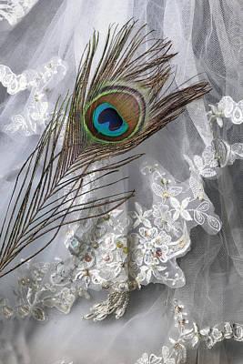 Embroidered Photograph - Bridal Veil by Joana Kruse
