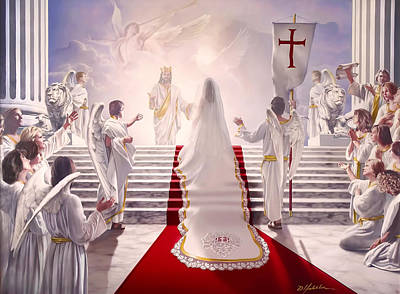 Praise Painting - Bride Of Christ by Danny  Hahlbohm