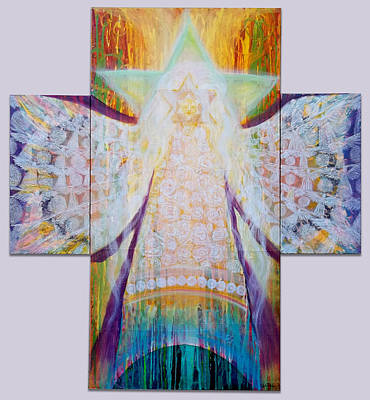 Painting - Bride Of Christ Save The Planet by Anne Cameron Cutri