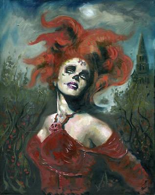 Bride Of The Dead Print by Luis  Navarro