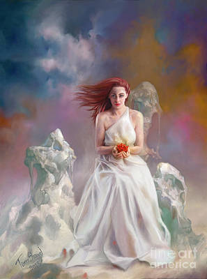 Fantasy Painting - Bride by Tamer and Cindy Elsharouni