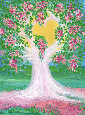 Painting - Bride's Tree Pink by First Star Art