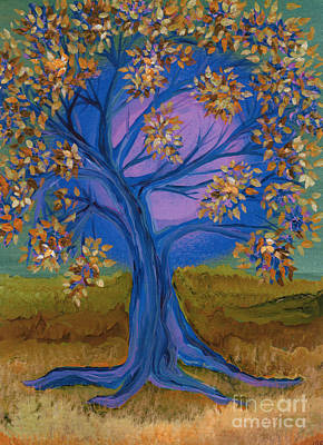 Painting - Bridesmaid Tree Blue by First Star Art