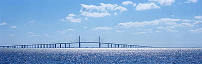 Sunshine Skyway Bridge Photograph - Bridge Across A Bay, Sunshine Skyway by Panoramic Images