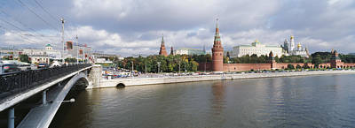 Archangel Photograph - Bridge Across A River, Bolshoy Kamenny by Panoramic Images