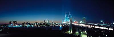 Philadelphia Scene Photograph - Bridge Across A River, Delaware by Panoramic Images