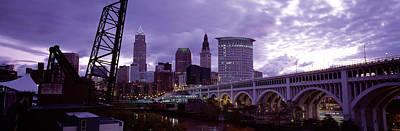 Bridge Across A River, Detroit Avenue Print by Panoramic Images