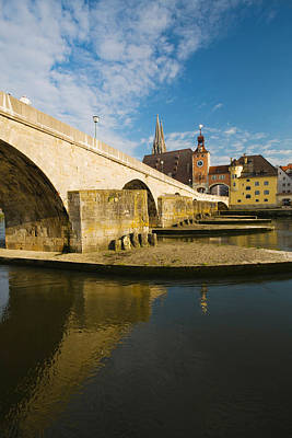 Bridge Across The River, Steinerne Print by Panoramic Images