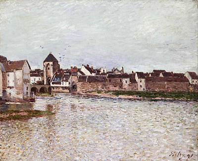 Alfred Sisley Painting - Bridge At Moret-sur-loing by Alfred Sisley