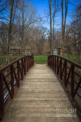 Hobart Photograph - Bridge In Deep River County Park Northwest Indiana by Paul Velgos