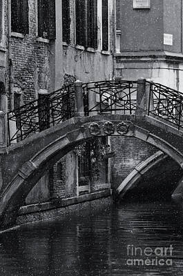 Bridge In Venice 2 Print by Design Remix
