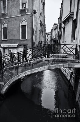 Bridge In Venice 3 Print by Design Remix