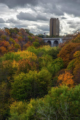 Autumn Photograph - Bridge Of Color by Mark Papke