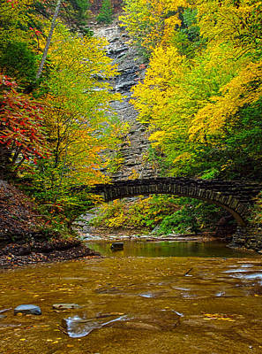 Finger Lakes Photograph - Bridge Over Still Waters by Joshua House