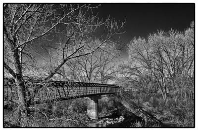 Bridge Over The South Platte River Print by David Patterson