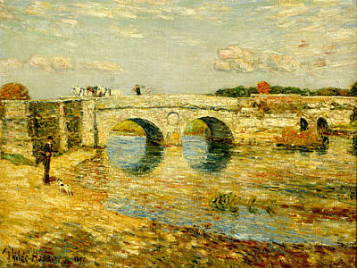 Childe Hassam Painting - Bridge Over The Stour by Childe Hassam