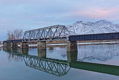 Kamloops Photograph - Bridge Over Tranquil Waters In Kamloops British Columbia by Steve Boyko