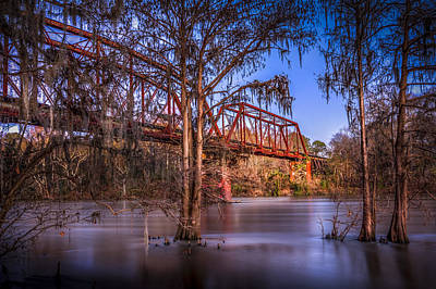 Fence Posts Photograph - Bridge Over Trouble Water by Marvin Spates