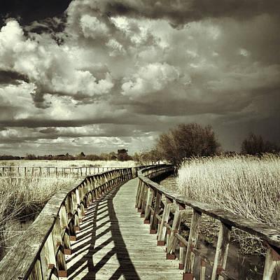 Bridge Retro Print by Guido Montanes Castillo