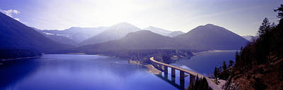Curving Road Photograph - Bridge Sylvenstein Lake Germany by Panoramic Images