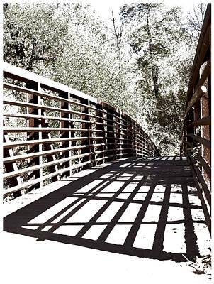 West Fork Digital Art - Bridge To Oak Creek by Bj Lewis