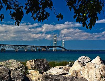 Mackinac Photograph - Bridge To The U.p. by Nick Zelinsky
