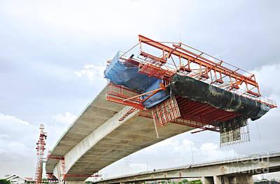 Bridge Under Construction Print by Colin and Linda McKie