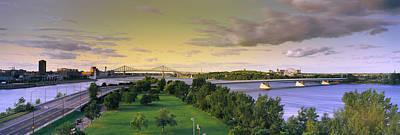 Jacques Photograph - Bridges Across A River, Jacques Cartier by Panoramic Images
