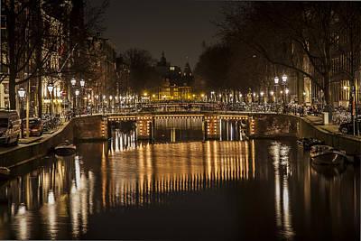 Bridges Of Amsterdam Print by Shari Mattox