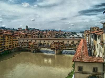 Bridges Of Florence Print by C H Apperson