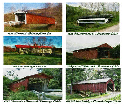 Covered Bridge Painting - Bridges Of Ohio Lll by Scott B Bennett