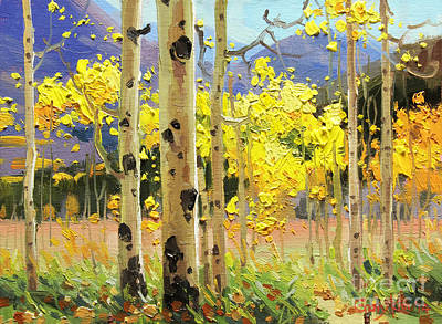 Fall Panorama Painting - Bright Autumn  by Gary Kim